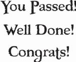 You Passed Well Done Woodware Clear Stamp (JWS090)